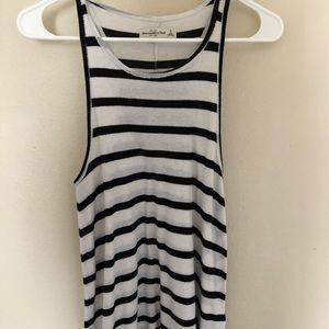 Black&white striped raceback-Abercrombie&Fitch